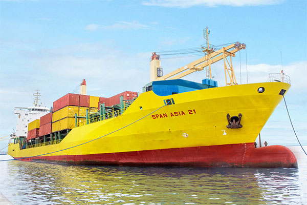 Philippine Span Asia Carrier Corp. ship at sea